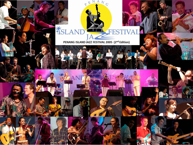 Penang Island Jazz Festival  2005 (Collage)